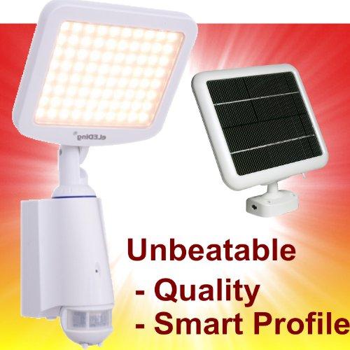 eLEDing Pure Digital Solar Powered (DDC-Smart) 80 LED Security Flood Spot Lights