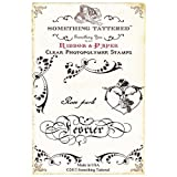 Something Tattered February Fevrier French Month Clear Stamps, 4 by 4-Inch