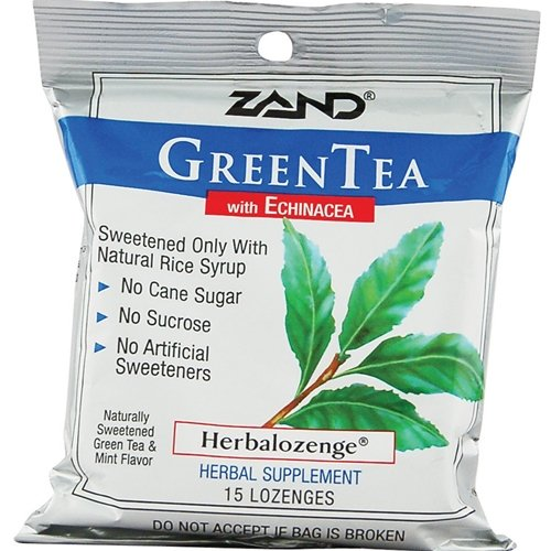 Zand Green Tea With Echinacea -- 15 Lozenges