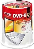 【Amazon.co.jp限定】TDK データ用DVD-R 4.7GB 1-16倍速対応 手描きもできるホワイトワイドプリンタブル 100枚スピンドル ATDR-47PWC100PZ