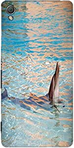 Snoogg Dolphin Designer Protective Back Case Cover For Sony Xperia Z3