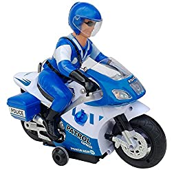 SOFTA Police Remote Control Bike or Motorcycle Rotates 360 Degree For Kids