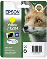 Epson C13T12844011 Cartuccia Inkjet Ink Pigmentato Blister RS, Volpe-M T1284, Giallo
