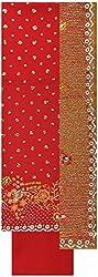 Gunjan Women's Crepe Unstitched Salwar Suit (Red)