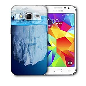 Snoogg Blue Sea With White Mountain Printed Protective Phone Back Case Cover For Samsung Galaxy CORE PRIME