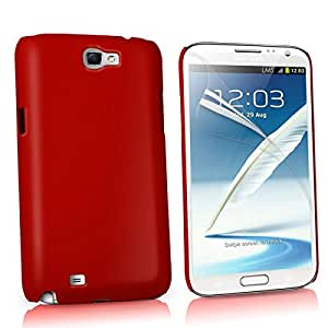 Wow Matte Rubberized Finish Hard Case For Samsung Galaxy Note 2 -red