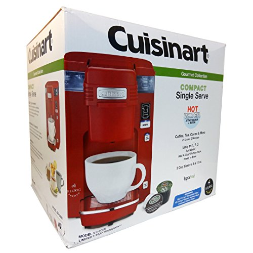 Cuisinart Ss-300 Single Serve Brewing System, Red - Powered By Keurig
