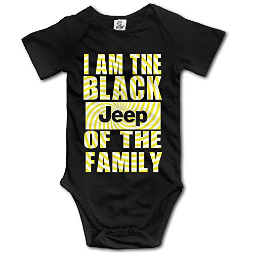 Baby's I Am The Black Jeep Of The Family Sleeveless Romper Jumpsuit