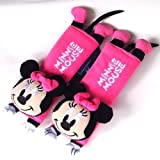 Disney Minnie Mouse Design Multi Use Auto Car seat belt cover Plush Seat Shoulder Pad Cushion 2 pcs One Pair