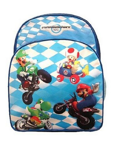 Mario Mario Wii Backpack – Blue
