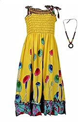 Pikaboo Strappy Summer Dress - Yellow