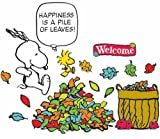 Eureka Peanuts Happiness is a Pile of Leaves Bulletin Board Set, 26 Reusable Punch Out Pieces