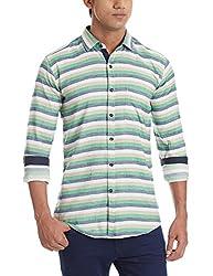 Dennison Men's Casual Shirt (SS-16-410_38_Multi Color)
