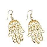 Hamsa Gold-dipped Earrings on French Hooks