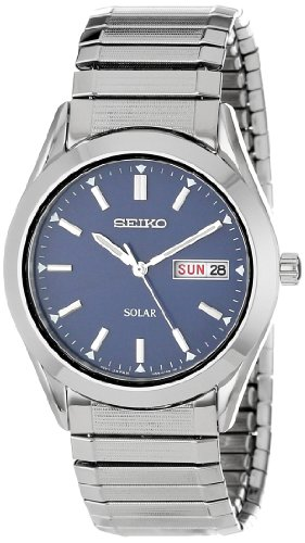 Seiko Men's SNE057 Solar Blue Dial Watch