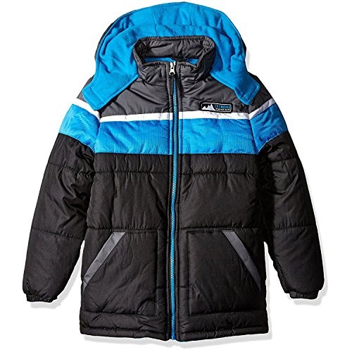 iXtreme Little Boys' Cut and Sew Colorblock Puffer, Black, 7 (Cut And Sew compare prices)