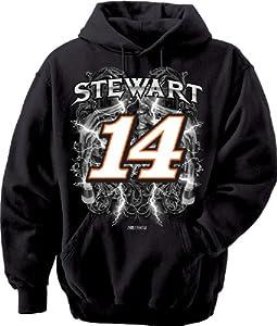 NASCAR Tony Stewart #14 Stewart Haas Racing Hooded Sweatshirt (Medium)