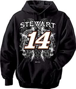NASCAR Tony Stewart #14 Stewart Haas Racing Hooded Sweatshirt by Checkered Flag