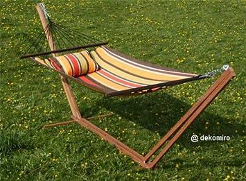 hamac avec armature env env 385 cm marron jardin m43. Black Bedroom Furniture Sets. Home Design Ideas