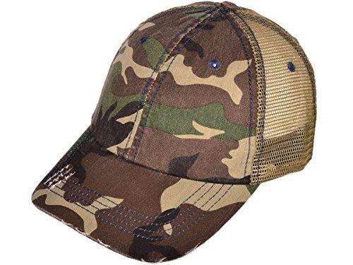 Low Profile Special Cotton Mesh Cap-Green Camo 2990 (Low Profile Trucker Cap compare prices)