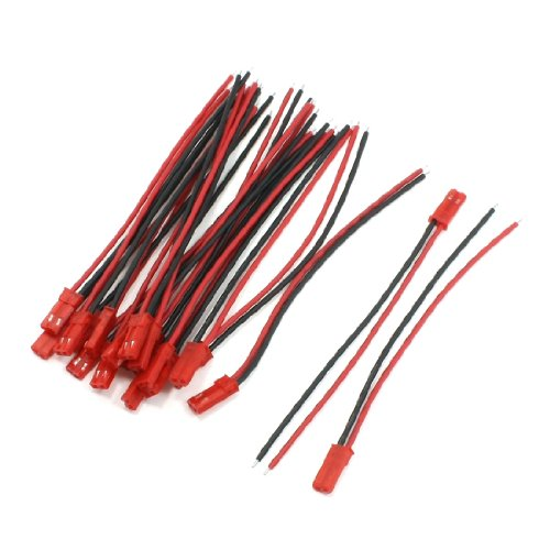 "20Pcs JST Male Connector 3.9"" 22AWG Wire Cable for RC Plane Wiring - 1"