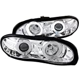 Anzo USA 121159 Chevrolet Camaro Projector Halo/Chrome Clear with Amber Reflectors Headlight Assembly - (Sold in Pairs)