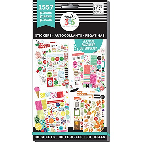 Create 365 Happy Planner Sticker Value Pack Brilliant Year, 1557/Pkg (Value Pack Stickers compare prices)