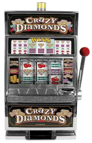 "3"" Round ~ Crazy Diamonds Slot Machine Birthday ~ Edible Image Cake/Cupcake Topper!!! front-636771"