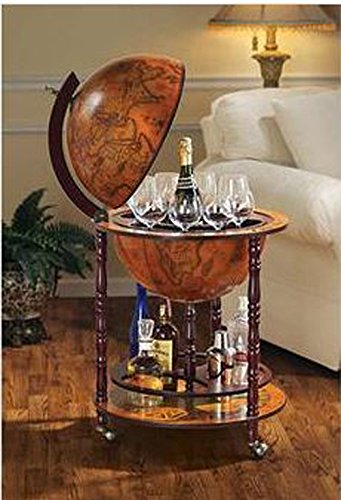 Sixteenth-Century Italian Replica Old World Globe Bar 2
