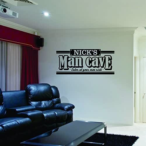 Man Cave Name Ideas : Amazon personalized name man cave wall decal handmade