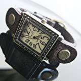 Purple Leather Watch Band Women's Fashion Quartz Watches, Vintage Style From S &H