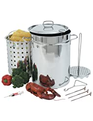Bayou Classic 1118 32-Quart Stainless Steel Turkey Fryer by 