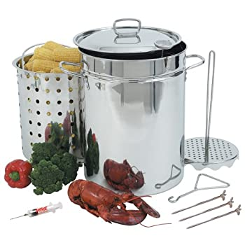 Bayou Classic Stainless Steel Cookware is the premium choice for those who demand the highest quality products for their outdoor cooking needs. The Stainless Steel 32-Quart Stockpot allows you to fry a turkey in as little as 45 minutes. With the in...