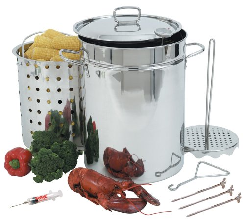 Bayou Classic 1118 32-Quart Stainless Steel Turkey Fryer front-31165
