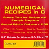 Numerical Recipes in C; The Art of Scientific Computing 2nd ed; Diskette v 2.02