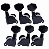 Cozyswan® 6pcs 3R3L Acoustic Guitar Tuning Pegs Machine Head Tuners BLACK Guitar Parts