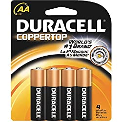 CopperTop Alkaline Batteries with Duralock Power Preserve Technology, AA, 4/Pack