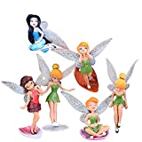 6Pcs Disney Cartoon Mini Flower Fairy Doll Scene Static Model Accessories