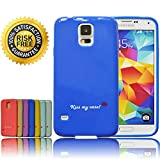 Best Samsung Galaxy S5 Silicone/Hard Cases - Keep Your Phone 100% Safe - Grab Attention - Unique Pantone spring 2014 Custom Colors - Cool Protective Slim Fit Case - Top Designer GS5 Covers - Money Back Guarantee - Buy Now for Bonus - Many Happy Customers (Dazzling Blue)