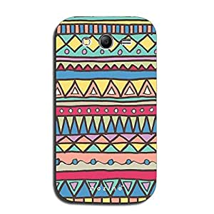 Mozine Yellow Blue Triangle Pattern printed mobile back cover for Samsung Grand Neo Plus
