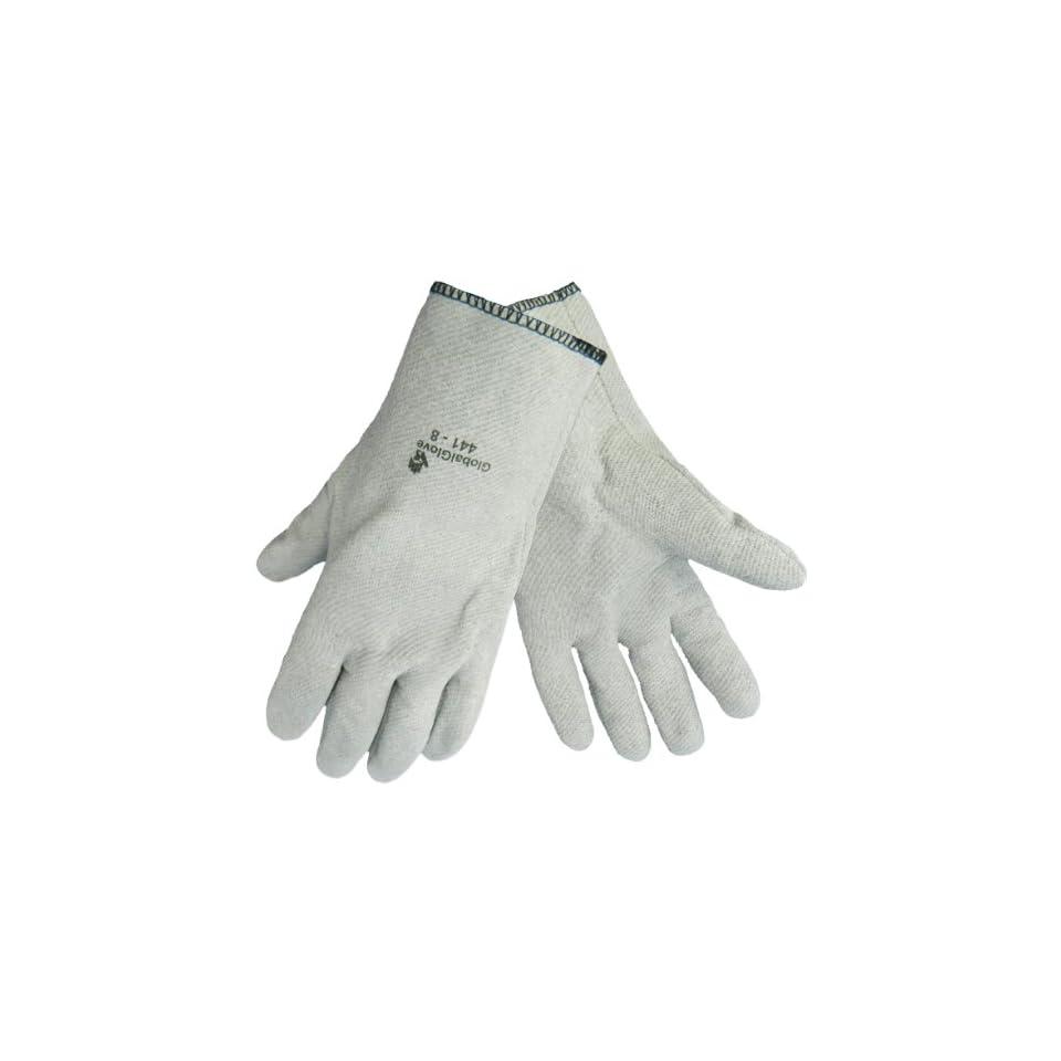 Global Glove 441 Nitrile Heat Handling Slip On Glove, High Temperature, 11 Length, Large (Case of 144)