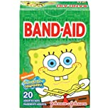 Band-Aid Adhesive Bandages, SpongeBob SquarePants, Assorted Sizes, 20 ct.