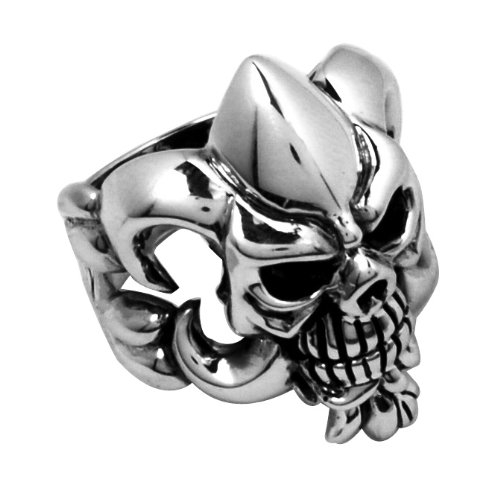 Stainless Steel Skull Ring (Available in Sizes 10 to 14) size14