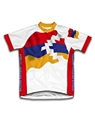 Nagorno-Karabakh Republic Flag Short Sleeve Cycling Jersey for Women