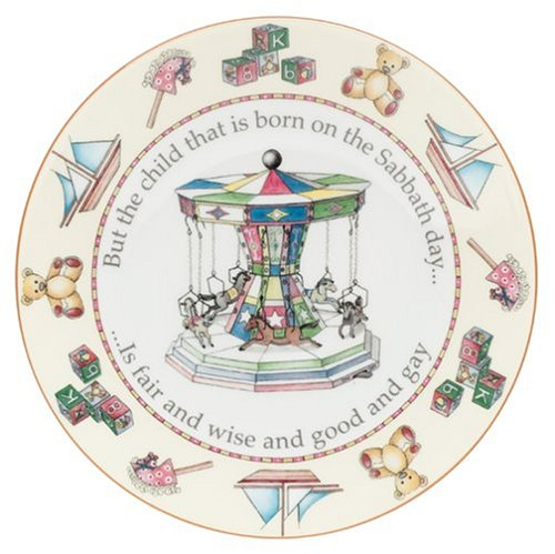 Buy Royal Worcester Days of the Week Earthenware 8-Inch Plate, Sunday