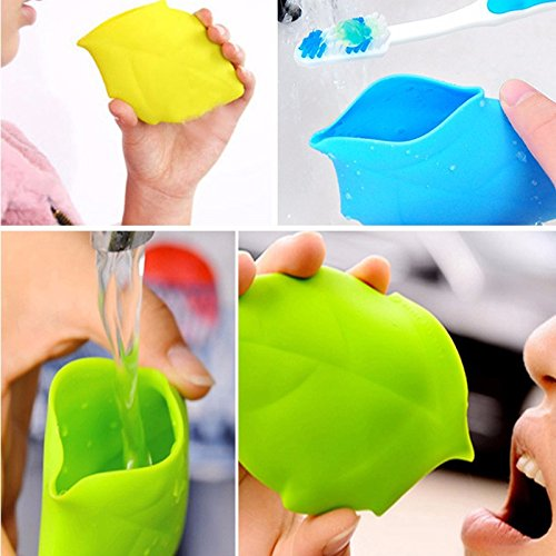 Maple Leaf Portable Silicone Drinking Wash Gargle Travel Cup Camping