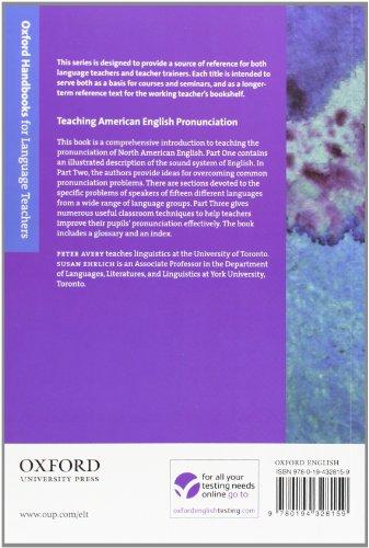 Teaching American English Pronunciation (Oxford Handbooks for Language Teachers)
