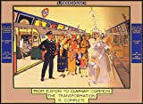 TX41 Vintage 1924 London Underground Euston To Clapham Common Travel Railway Poster Re-Print - A4 (297 x 210mm) 11.7