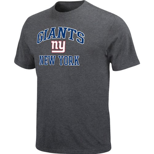 New York Giants Heart & Soul Charcoal T-Shirt Extra Large at Amazon.com