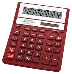 Citizen SDC-888XRD Basic Calculator (Red)